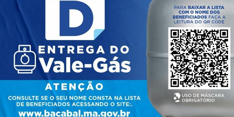 Dia 21 de maio entrega do Vale Gás em Bacabal