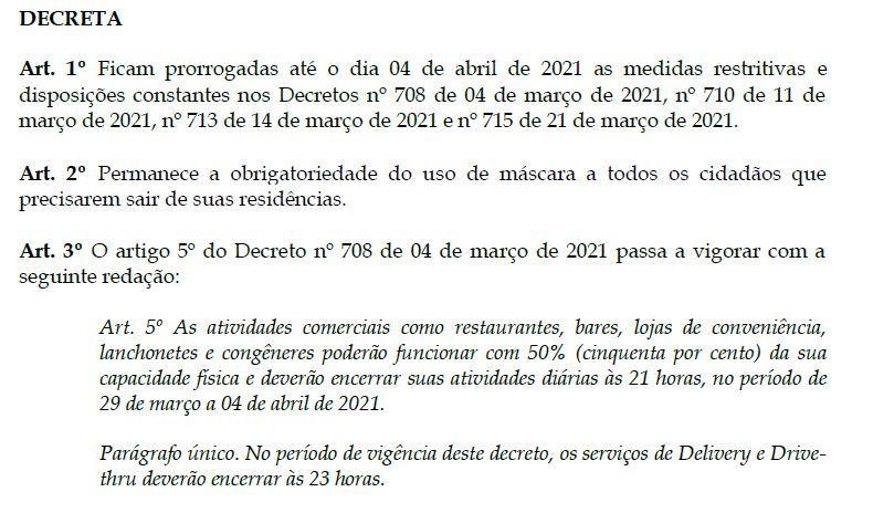 Prefeitura de Bacabal permite a reabertura de bares e restaurantes
