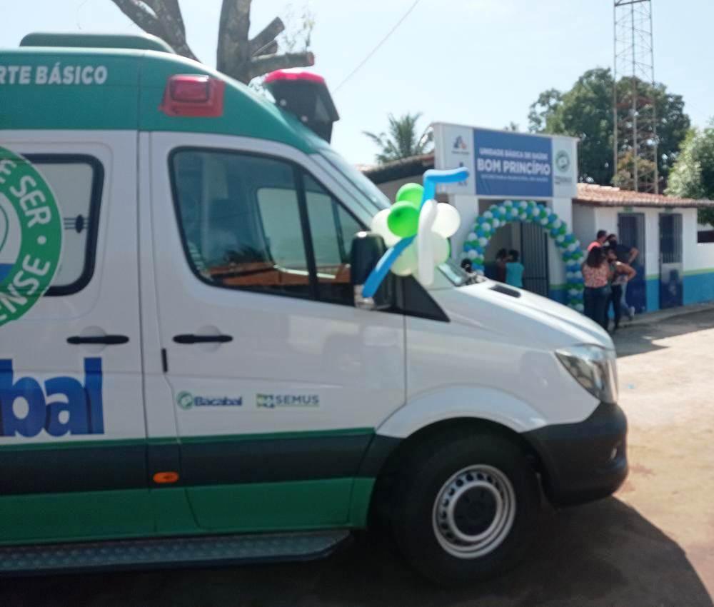 Povoado Bom Princípio ganha ambulância e UBS revitalizada