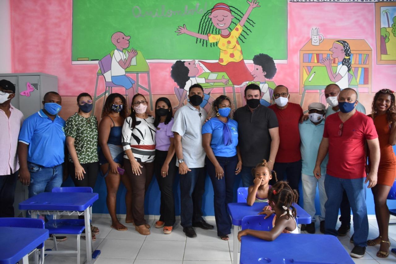 Prefeitura de Bacabal entrega escola do povoado São Sebastião dos Pretos revitalizada e inaugura o Memorial Quilombola da comunidade