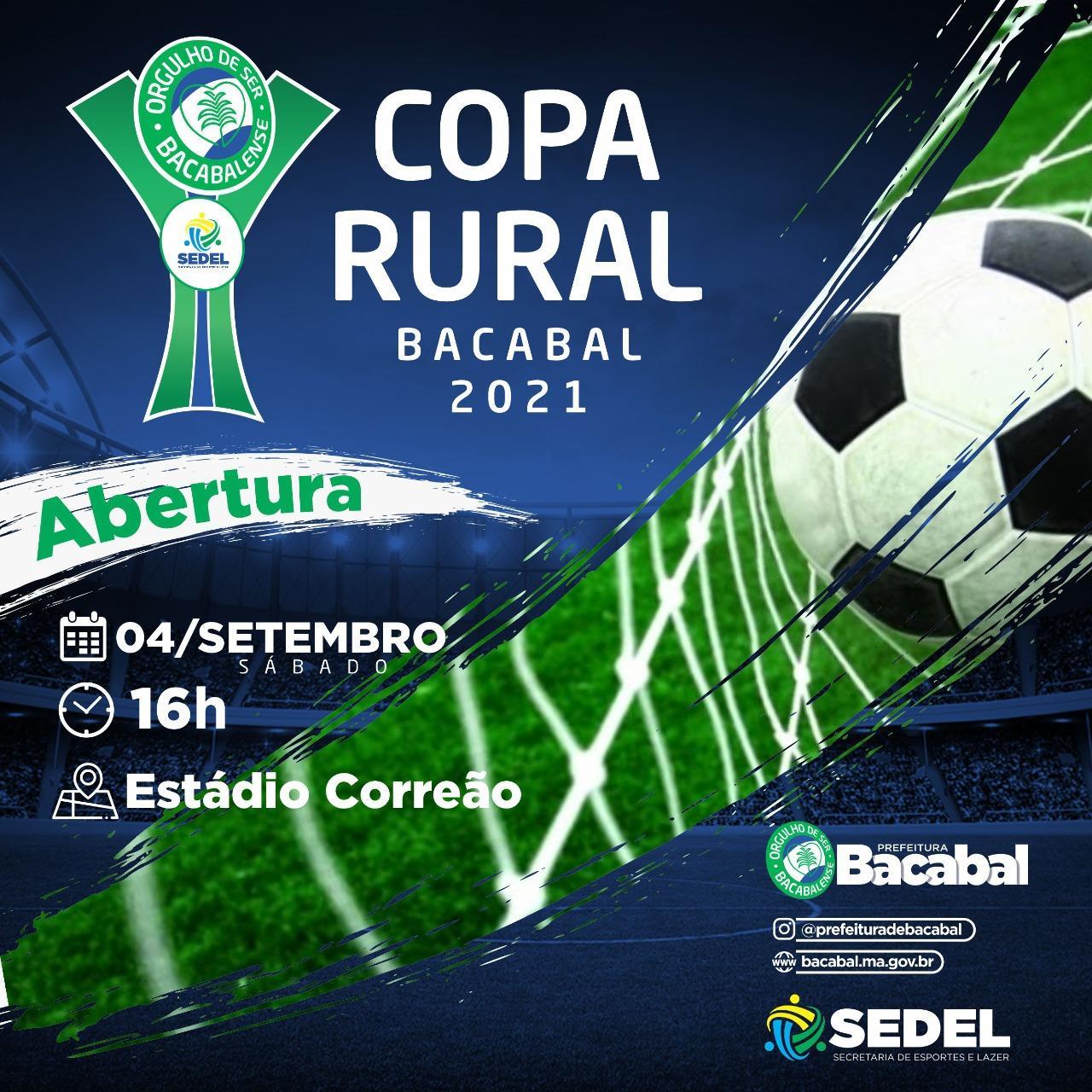 Copa Rural 2021 inicia no próximo sábado no Estádio Correão