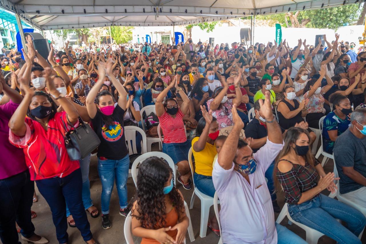 Prefeito Edvan Brandão e o Governador Flávio Dino assinam ordens de serviço para obras do governo do estado em Bacabal