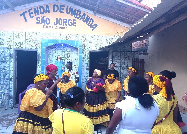 Lei Aldir Blanc   Contrapartida da Tenda São Jorge, resulta em oficina e sessão batida de Umbanda.