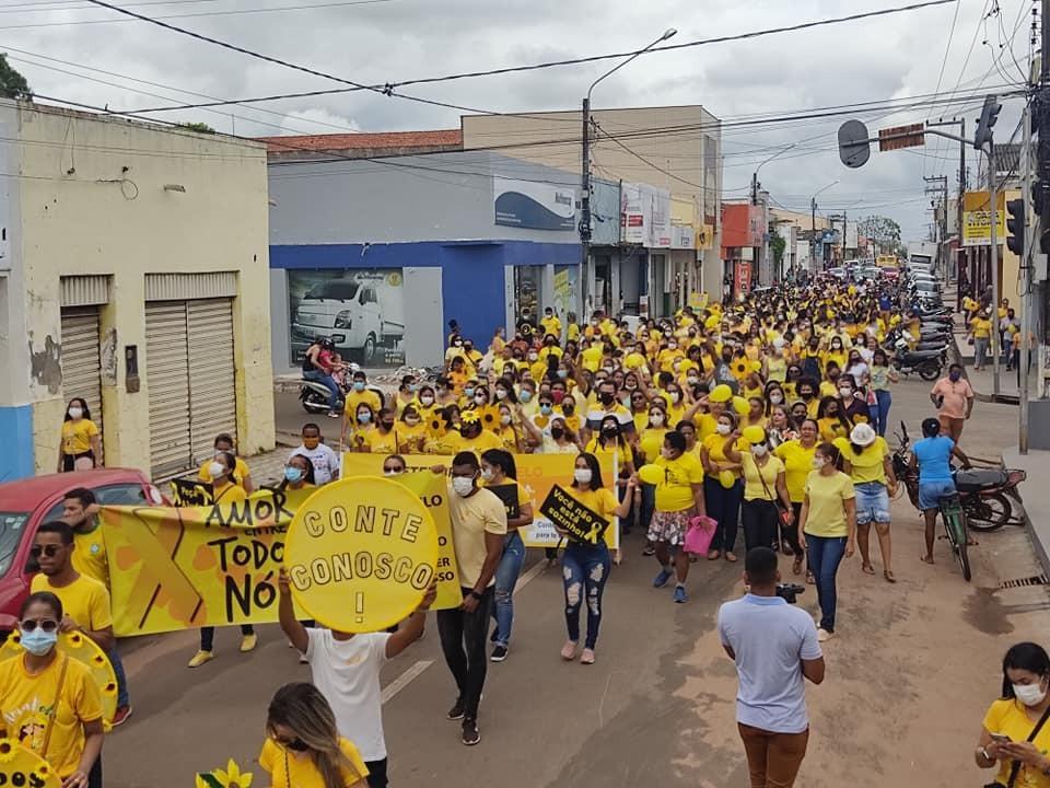 Caminhada pela Vida movimenta o Centro de Bacabal e fecha a campanha Setembro Amarelo no Município